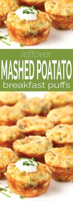 Leftover Mashed Potato Puffs + VIDEO
