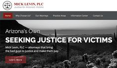 Mick Levin, PLC - Phoenix, Arizona Law Firm: Personal Injury, Victims, Professional Negligence, Insurance Bad Faith. No fee unless you get paid. FREE consults: 866-707-7222