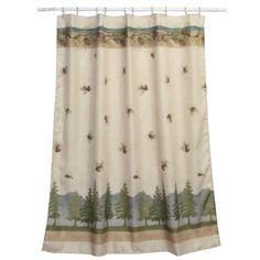 Bacova Guild Pine Cone Branches Shower Curtain