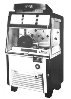 1956, IMA/AMI Model J-40-G 40 selection. Produced by Jensen Music Automates A/S. Under license of AMI Inc. [Jukebox Collector]