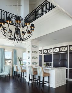 The owner of this penthouse in downtown Detroit featured in Detroit Home and photographed by Beth Singer wanted a kitchen that didn't look like a kitchen. Gary Fried of MDG Design created the space with interior designer Roxane Whitter Thomas to be party-ready.