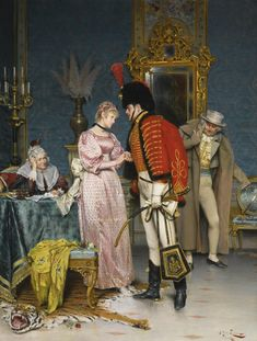 Arturo Ricci (1854 - 1919) The Engagement