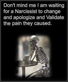 Are you waiting for a Narcissist to change? The truth is a Narcissist doesn't want to change. They see nothing wrong with their behavior, no matter how cruel or unusual their behavior might seem to others. In fact, the Narcissist enjoys blaming others for Narcissistic People, Narcissistic Mother, Narcissistic Behavior, Narcissistic Sociopath, Abusive Relationship, Toxic Relationships, Bad Relationship, Trauma, Ptsd