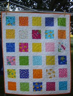 Baby Girl Quilt multiplecolored by MagpieQuilts on Etsy