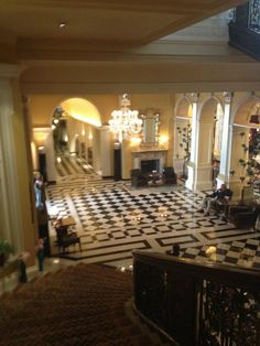 Black and white marble floor. Claridges Hotel, London  Repinned by Anna Marie Fanelli - www.houzz.com/annamariefanelli