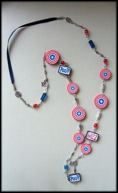 """collier polymère réalisé en suivant le modèle du livre """"Bijoux et accessoires en pate polymère"""" de Anne-Lise SGOLMIN par bonboise"""