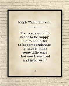 Ralph Waldo Emerson Print, Ralph Waldo Emerson Quote, Custom Art Print, Book Page Art Print, Classic Quotable Quotes, Wisdom Quotes, Words Quotes, Wise Words, Quotes To Live By, Me Quotes, Film Quotes, Sayings, Ralph Waldo Emerson
