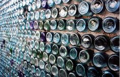 An all WHITE wine bottle wall (A Wine Wall from Death Valley)