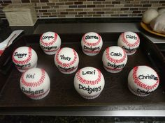 baseball rice krispie treats