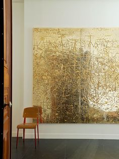 Gold paint on a large canvas. result= wow.