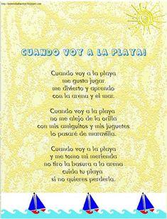#Poema #verano #infantil Spanish Vocabulary, Teaching Spanish, Poetry Center, Poetry Unit, Dual Language, Spanish Classroom, Summer School, Literacy, Literature