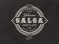 Vintage Salsa Food Logo design 25 Cool & Creative Fast Food & Drink Logos For In. Food Logo Design, Web Design, Vintage Logo Design, Logo Food, Graphic Design Typography, Branding Design, Vintage Logos, Badge Design, Branding Kit