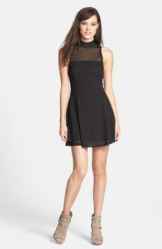 MINKPINK 'Here Comes the Night' Illusion Yoke Skater Dress available at #Nordstrom