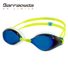 Barracuda Swim Goggle LIQUID WAVE - Mirror Lenses Silicone Gaskets, Anti-fog UV protection Anti-glare, Easy Adjusting No leaking Comfortable, Competition Racing for Adults Men Women #91410