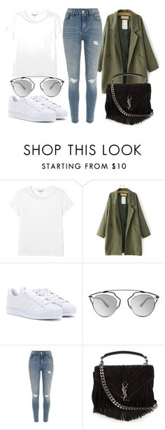 """Sem título #3028"" by beatrizvilar on Polyvore featuring moda, Monki, adidas Originals, Christian Dior, River Island e Yves Saint Laurent"