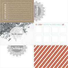 Walden Christmas Printable Cards at @studio_calico