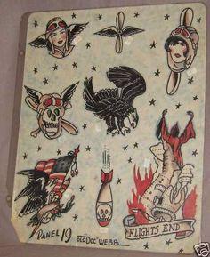 webb01 by Vintage Tattoo Flash, via Flickr