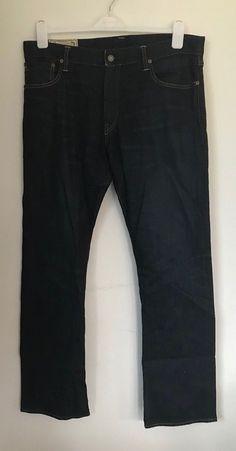 38b3aa90 Mens Polo by Ralph Lauren Indigo Blue Boot Cut Denim Jeans - 36