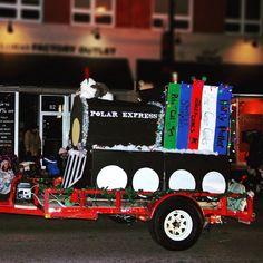 Our Polar Express float in the Brantford Santa Claus Parade
