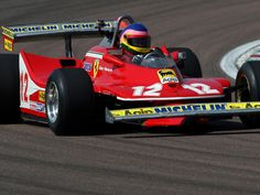 Jacques Villeneuve drives his fathers '79 312 T4 on the anniversary of his death
