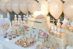 Project Nursery - Peachy Pumpkin Birthday Party Food Table