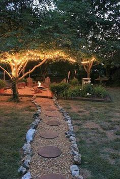 Wow. I think I need some solar string lights for behind the fire pit