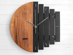 Architecture House Discover Industrial Wall Clock Unique Wall Clock Home Gift Clock Unusual Wall Clock Component Clock Wood Clock Abstract Style Industrial Decor Unique Wall Clocks, Wood Clocks, Unusual Clocks, Metal Clock, Wooden Wall Decor, Wooden Walls, Wall Wood, Diy Clock, Clock Wall
