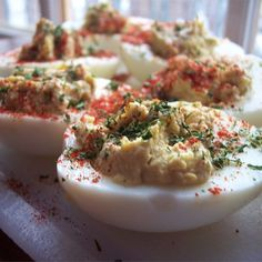 "Perfect Deviled Eggs | ""HANDS DOWN - the BEST deviled eggs recipe I have ever tried! I love the ""zing"" and spiciness."""