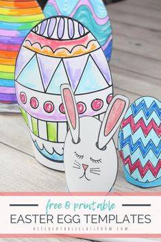 This Easter egg template set includes five different Easter egg printables in two different sizes. Print, cut and design these sweet stand up Easter eggs! Bunny Crafts, Easter Crafts For Kids, Diy For Kids, Easter Ideas, Kid Crafts, Easter Egg Template, Easter Egg Pattern, Easter Activities For Kids, Easter Bunny Decorations