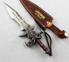 "7"" Games WOW World of Warcraft Nerzul cosplay sword pendant Metal Dagger"