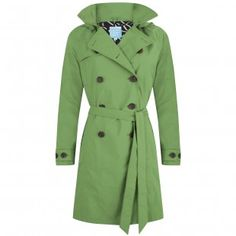 Happy Rainy Days Women's Classic Trench Coat With Removable Hood, Green, Small Classic Trench Coat, Double Breasted Trench Coat, Tommy Hilfiger Women, Rainy Days, Nice Tops, Fashion Brands, The North Face, Raincoat, Model