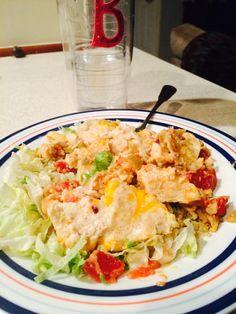 Chicken Enchilada Casserole (with magic sauce)
