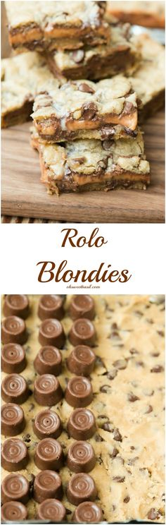 It's time to bust out everyone's favorite rolo blondies! ohsweetbasil.com