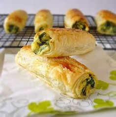 Feta Spinach Rolls - like roll up spanikopita!!