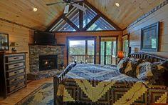 Love the dark trim.  Sadbe Mountain Lodge, Blue Ridge, GA
