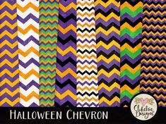 Halloween Paper Pack Chevron Digital Scrapbook by ClikchicDesign Digital Scrapbook Paper, Digital Papers, Graphic Design Projects, Design Crafts, Paper Background, Textured Background, Halloween Projects, Paper Halloween, Halloween Images