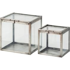 KOMBINERBAR Decoration glass box, set of 2 Black (€17) ❤ liked on Polyvore featuring home, home decor, small item storage, glass home decor, black box, black home decor, glass box and 2 piece boxes