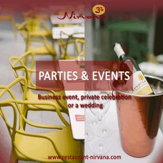 Make your ‪#‎event‬, private ‪#‎celebration‬ or a ‪#‎wedding‬ special with Nirvana's ‪#‎food‬ & ‪#‎drinks‬ @ http://restaurant-nirvana.com/special_event.html