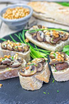 Roasted Garlic Tahini Crostini   #vegan #glutenfree www.contentednesscooking.com
