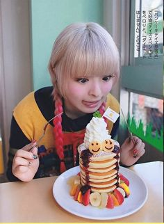 cute(o^∀^o) kyary pamyu pamyu ฅ(*°ω°*ฅ)* and pancakes. Japanese Models, Japanese Artists, Japanese Fashion, Kyary Pamyu Pamyu, Pusheen, Desu Desu, Nihon, Kawaii Girl, Tumblr Girls