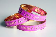 Greatly Blessed Highly Favored Enamel Bangle