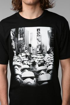 Crew In NYC Tee  #UrbanOutfitters - Storm Troopers in Times Square! Quick, to the Millenium Falcon.