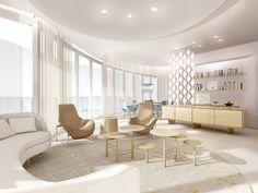 studio apartment design inspiration with futuristic interior style