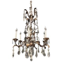 Continental Rococo Style Gilt Tole And Iron Chandelier Iron Chandeliers, Rococo Style, Decorative Objects, Decorating Your Home, Ceiling Lights, Traditional, Antiques, Interior, Home Decor