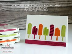 Stampin' Up! UK - Cards, Ideas and Tutorials from Stamping With Val. Shop Online Here 24/7 - Stampin' Up! UK Demo - Stampin' Up! Cool Treats, Frozen Treats and Inlaid Die Cutting Technique Video