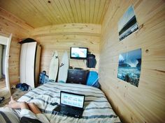 only my dream. so much wood! Bedroom Setup, Bedroom Ideas, Surf Room, Surf House, Beach House, Surf Shack, Coastal Living, Future House, Surfing
