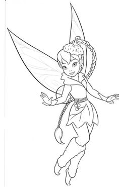 Friend Tinker Bell Fawn Coloring Page