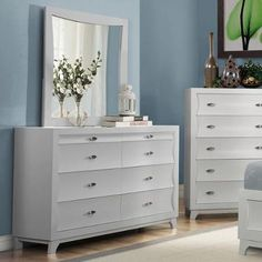 Buy Akeela Contemporary Black or White 8-drawer Dresser Dresser in White in Cheap Price on m.alibaba.com