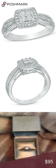 Selling this NEW Quad Diamond Accent Ring on Poshmark! My username is: acliftonorosz. #shopmycloset #poshmark #fashion #shopping #style #forsale #Jewelry