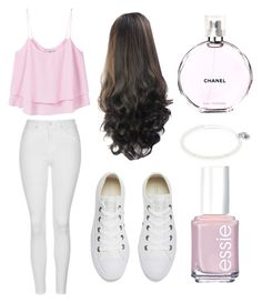 """Chanel Pefume"" by lfrye2080 ❤ liked on Polyvore featuring MANGO, Chanel, Topshop, Converse, Alex and Ani and Essie"